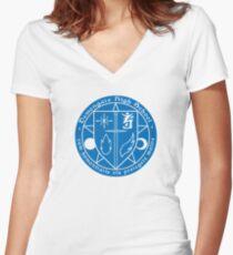 Demongate High Logo Women's Fitted V-Neck T-Shirt