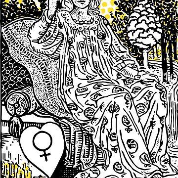 Modern Tarot Design - 3 The Empress by annaleebeer