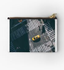 Birds eye view of taxi in NYC!  Studio Pouch