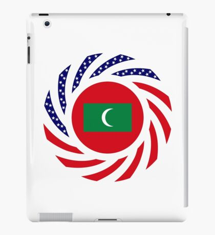 Maldivan American Multinational Patriot Flag Series iPad Case/Skin