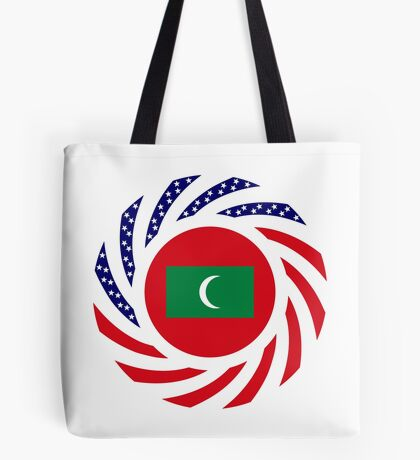 Maldivan American Multinational Patriot Flag Series Tote Bag