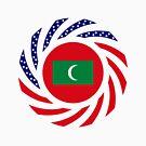 Maldivan American Multinational Patriot Flag Series by Carbon-Fibre Media