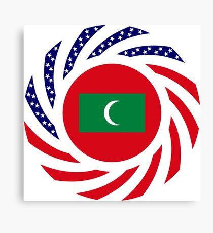 Maldivan American Multinational Patriot Flag Series Canvas Print