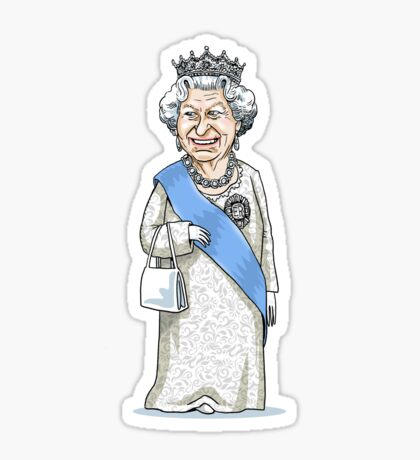 Queen Elizabeth II Sticker