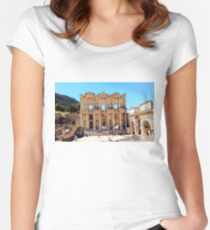 """Today Meets Yesterday"", Photo / Digital Painting Women's Fitted Scoop T-Shirt"