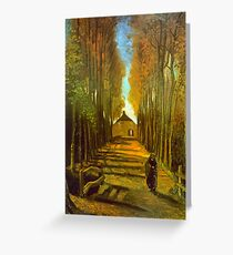 'Autumn' by Vincent Van Gogh (Reproduction) Greeting Card