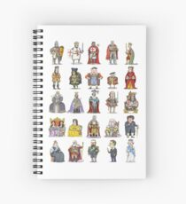 British  Monarchs Spiral Notebook
