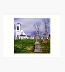 Churchyard Art Print