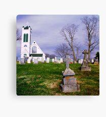 Churchyard Canvas Print