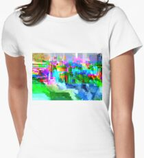 Glitch texture Women's Fitted T-Shirt