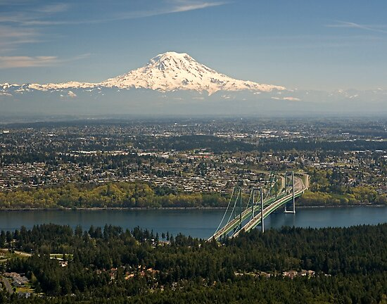 Mount Rainier and the Narrows by Bryan Peterson