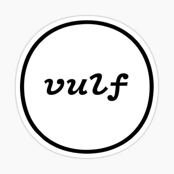 simply vulf tshirt Sticker