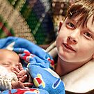 Portraits: Roman with his baby brother by Vanessa Pike-Russell