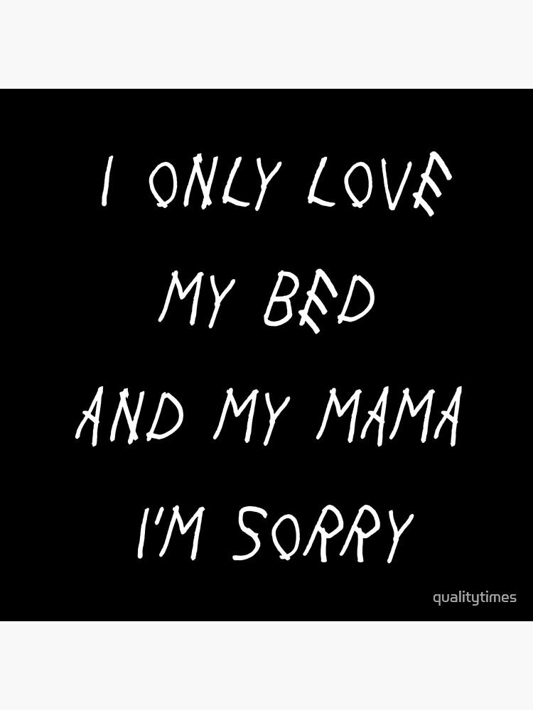 Ich liebe nur mein Bett und meine Mama Es tut mir leid Drake Lyrics Gottes Plan von qualitytimes