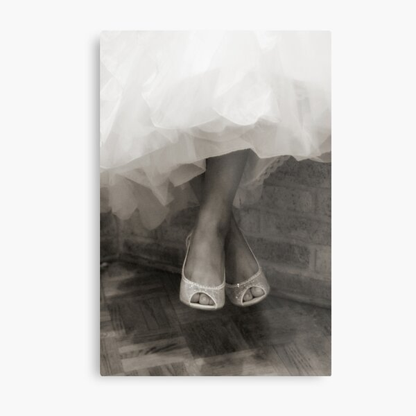 Wedding Shoes  Metal Print