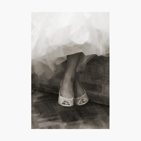 Wedding Shoes  Photographic Print