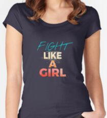 Fight Like A Girl #02 Women's Fitted Scoop T-Shirt
