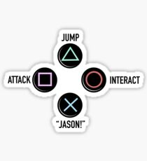 "Press ""X"" to ""Jason"" Sticker"