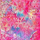 Mandalas Paint Pattern Pink by Cveta