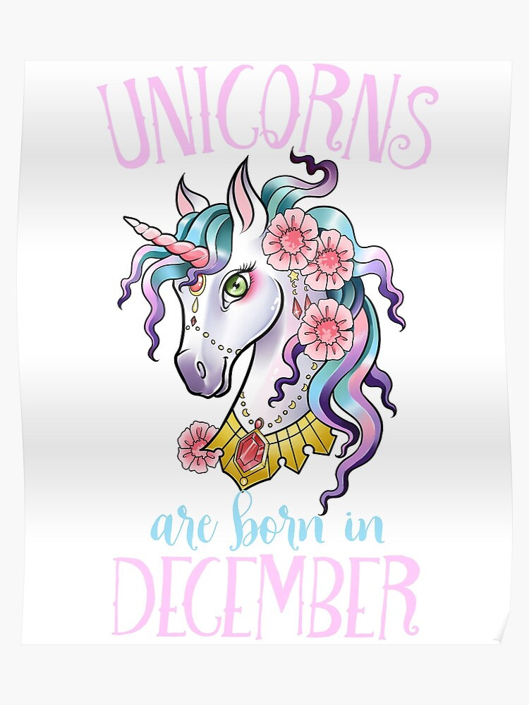 74d7542c5 Unicorns are Born in December Shirt Unicorn Rainbow Birthday