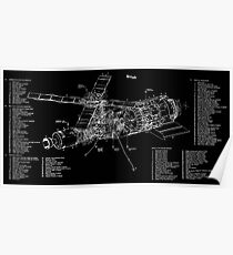 Skylab Drawings and Technical Diagrams sk001a0041 Poster