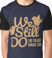 Tin Wedding Anniversary Gift Tee Ten Years of Marriage Couple T-shirt, Phone Cases And Other Gifts Graphic T-Shirt