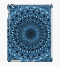 Light and dark blue mandala iPad Case/Skin