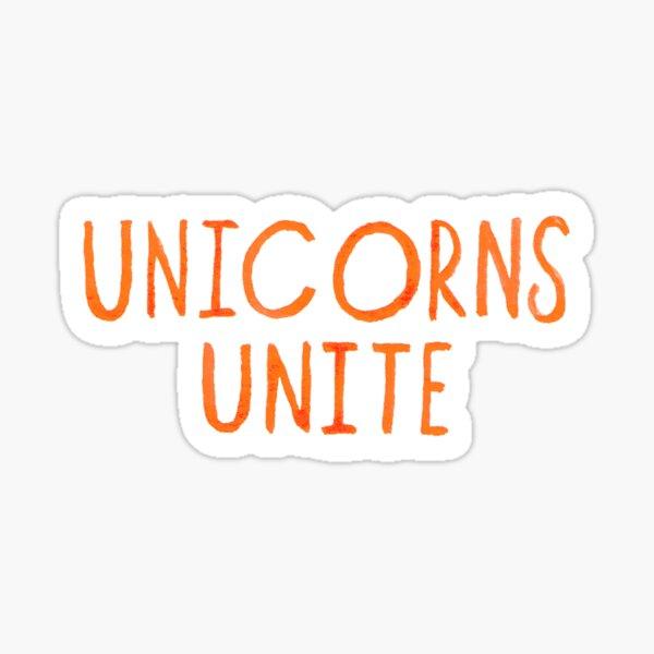 Unicorns Unite Logo Sticker
