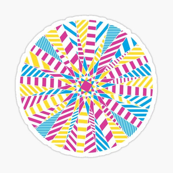 Bike wheel: Dazzle remix Sticker