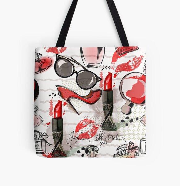 Design de mode cosmétique Tote bag doublé