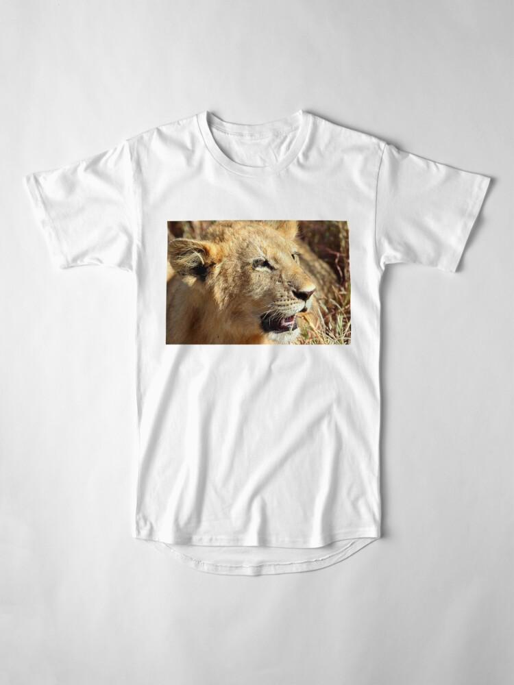 Alternate view of Closeup Lion Cub, Maasai Mara, Kenya  Long T-Shirt