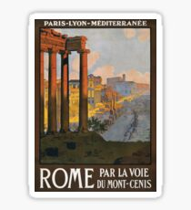 Rome Vintage Travel Poster Restored Sticker
