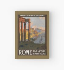 Rom Vintage Travel Poster restauriert Notizbuch