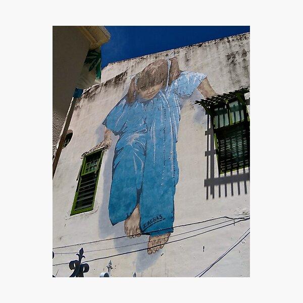 Girl On A Wire - Graffiti Art - Georgetown - Penang Island - Malaysia  Photographic Print