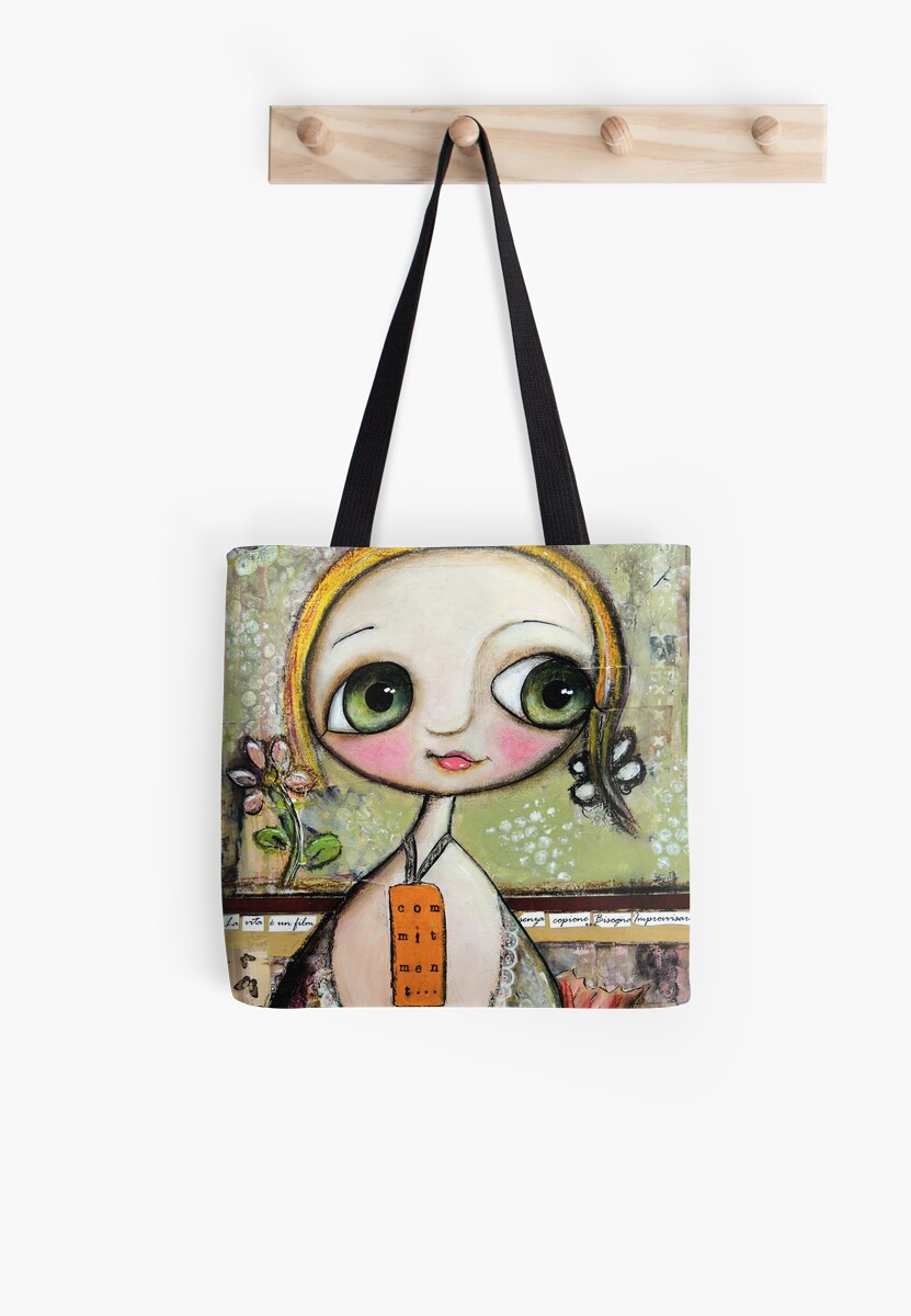 Blonde Doll with big eyes, art by Margherita Arrighi by margherita arrighi