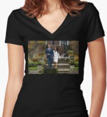 HRH Prince Harry and Meghan Markle Royal Wedding Women's Fitted V-Neck T-Shirt