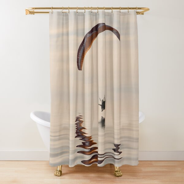 Powered paraglider Shower Curtain