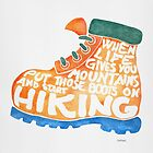 Hiking Boot - Orange by zephyrra