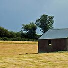 Panoramic Composition in Blue, Gold and Shed by Yampimon