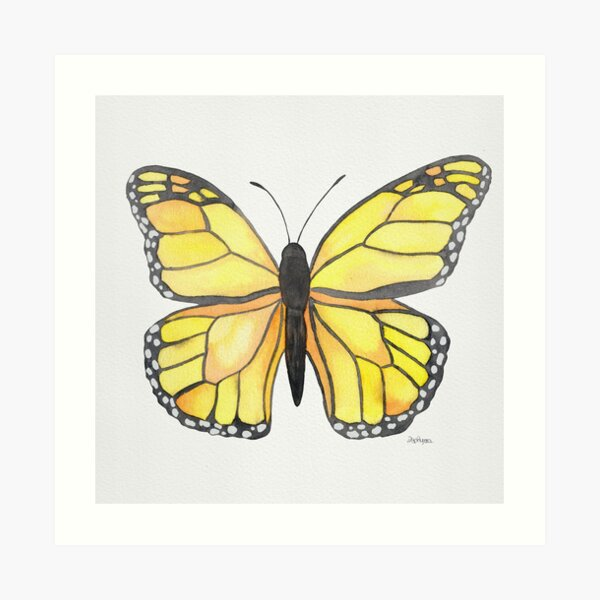 Yellow Butterfly Art Print