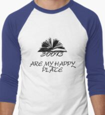 Books Are My Happy Place Men's Baseball ¾ T-Shirt