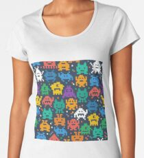 Funny Pixel Monsters Women's Premium T-Shirt