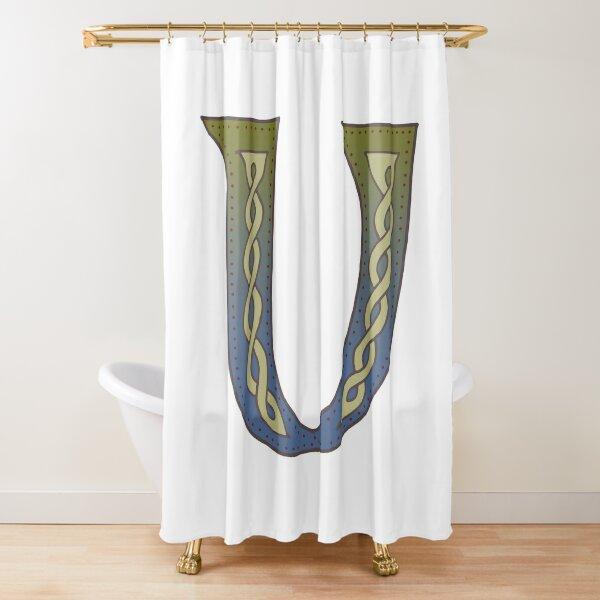 Celtic Knotwork Alphabet - Letter V Shower Curtain