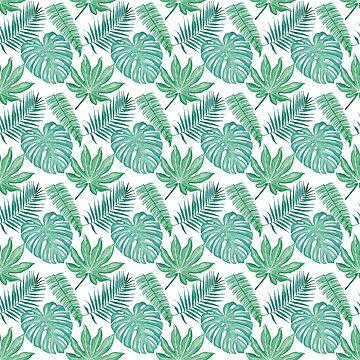 Aloha - Green Pattern by HawaiiArthst