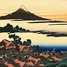 'Dawn at Isawa in the Kai Province' by Katsushika Hokusai (Reproduction) by Roz Abellera Art Gallery