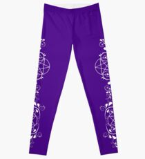 Pretty Pentacle Purple Leggings by Cheeky Witch Leggings