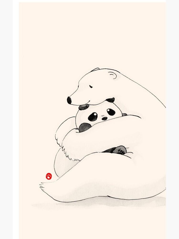 Bear Hug by PandaNPolarBear
