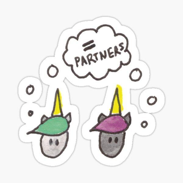 Unicorns Unite - Equal Partners Sticker