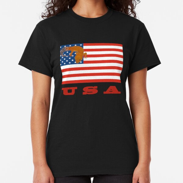 USA American Flag Leopard Gecko Classic T-Shirt