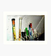 Hockey Sticks Art Print